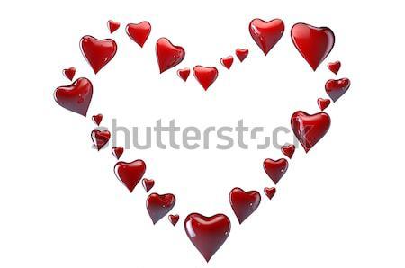 большой сердце небольшой красный сердцах белый Сток-фото © gravityimaging