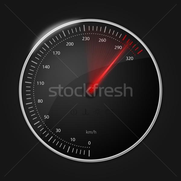 Сток-фото: спидометр · красный · скорости · индикатор
