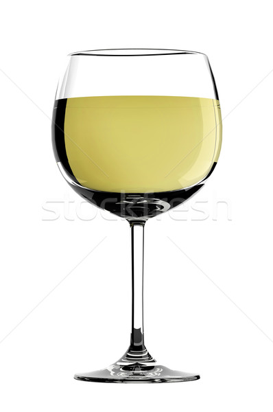 Glass of white wine Stock photo © gravityimaging