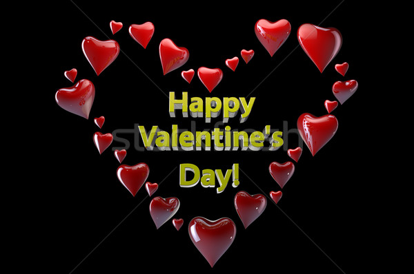 Happy Valentine's Day hearts  Stock photo © gravityimaging