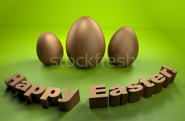 Христос воскрес праздников карт 3D яйцо Сток-фото © gravityimaging