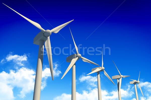 Blue Sky облака власти лет синий Сток-фото © gravityimaging