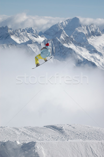 Snowboarder jumping Stock photo © gravityimaging
