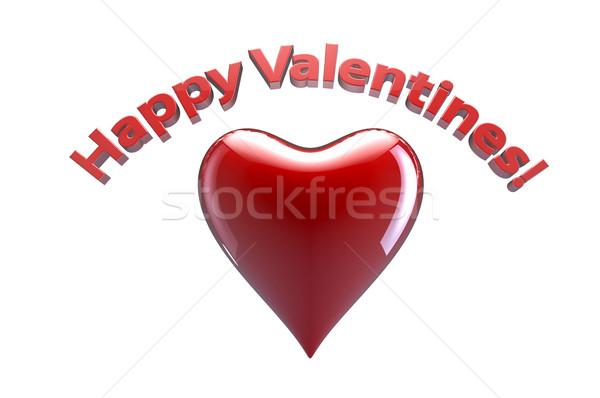 счастливым сердце Дать красный письма Сток-фото © gravityimaging