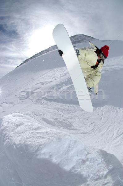 прыжки гор спорт снега зима Сток-фото © gravityimaging
