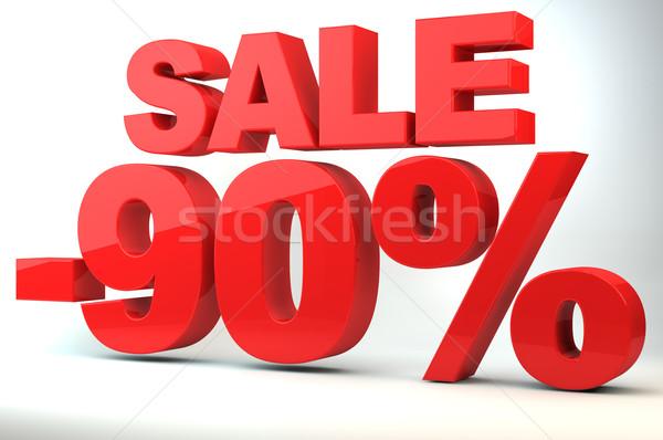 Satış fiyat azalma alışveriş kırmızı harfler Stok fotoğraf © gravityimaging