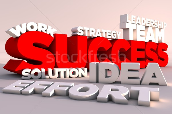 Stock photo: 3d elements of success