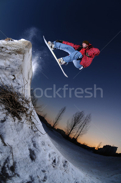 Urban snowboarding Stock photo © gravityimaging