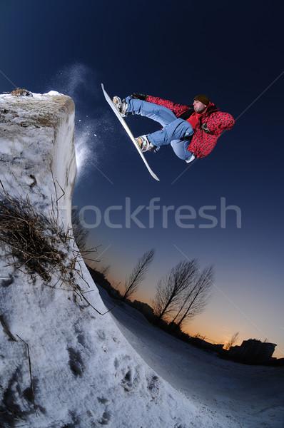 городского сноуборд прыжки высокий весело Сток-фото © gravityimaging