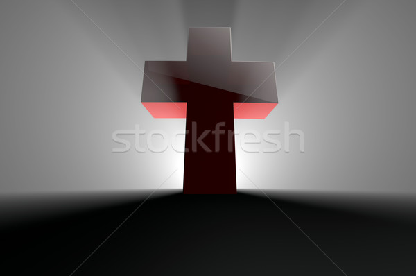 Cross with light from behind  Stock photo © gravityimaging