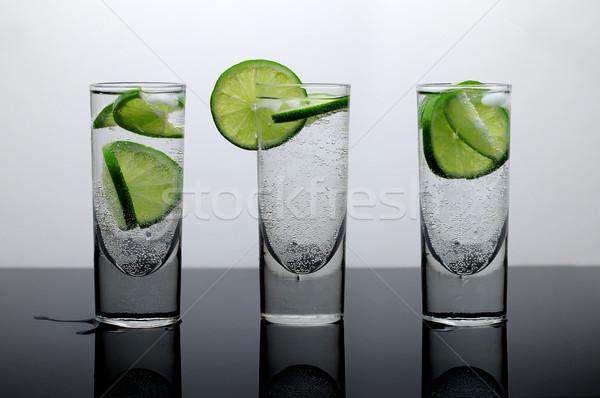 свежие пить воды извести льда три Сток-фото © gravityimaging