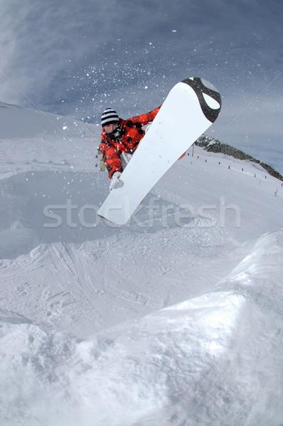 Сток-фото: прыжки · фристайл · Extreme · сноуборд · спорт
