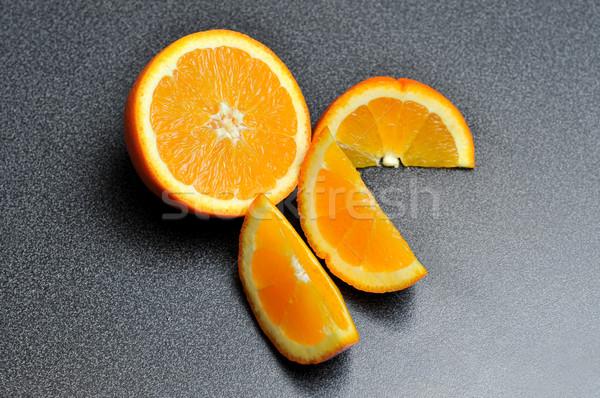 сочный оранжевый Ломтики частей свежие Сток-фото © gravityimaging