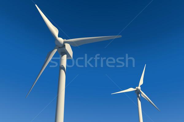 Blue Sky два власти небе технологий Сток-фото © gravityimaging
