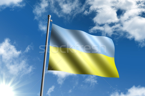 Сток-фото: флаг · Украина · Blue · Sky · облака · солнце · черный