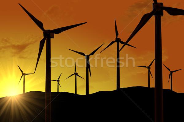фермы власти технологий промышленности Восход Сток-фото © gravityimaging