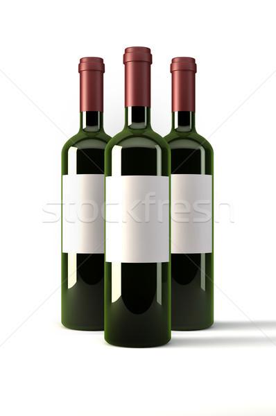 три вино бутылок белый Сток-фото © gravityimaging
