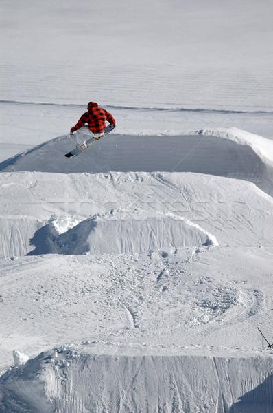 прыжки фристайл спорт гор красный Сток-фото © gravityimaging