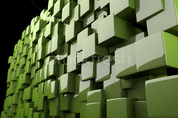 аннотация 3D зеленый архитектурный дизайна Сток-фото © gravityimaging