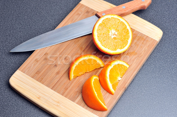 Stok fotoğraf: Turuncu · gıda · tablo · bıçak