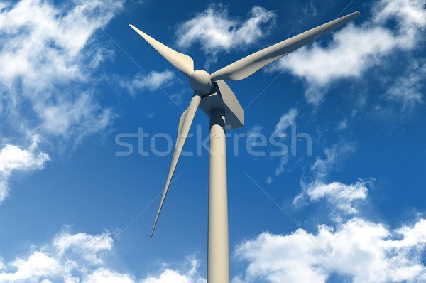 Wind turbine on blue sky Stock photo © gravityimaging