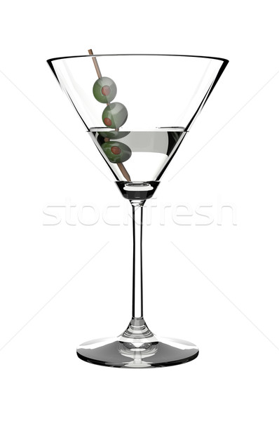 Martini boire verre olives blanche Photo stock © gravityimaging