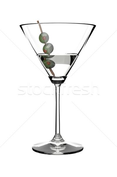 Martini пить стекла оливками белый Сток-фото © gravityimaging