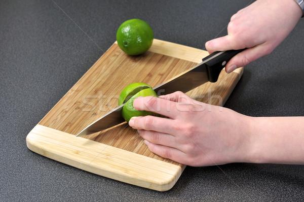 извести таблице продовольствие фрукты зеленый Сток-фото © gravityimaging