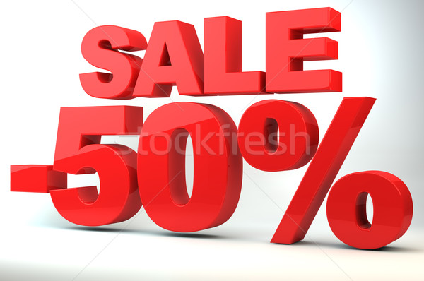 Sale - price reduction of 50%  Stock photo © gravityimaging