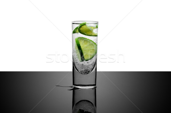 Fresh drink - water with lime and ice  Stock photo © gravityimaging