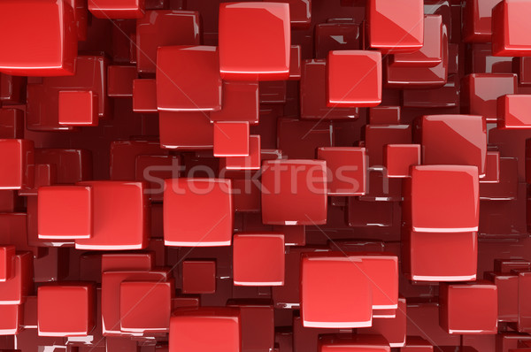 Abstract red 3D cubes  Stock photo © gravityimaging