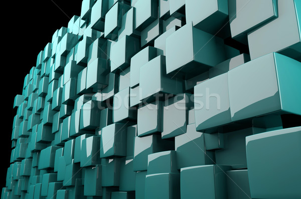 Abstract 3d blue cubes  Stock photo © gravityimaging
