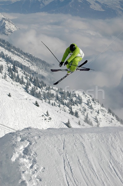 Young freestyle skier jumping Stock photo © gravityimaging
