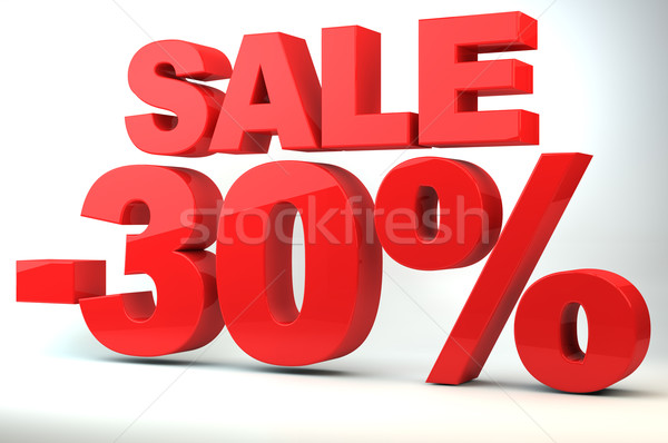 Stock photo: Sale - price reduction of 30%