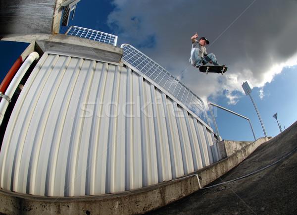 молодые скейтбордист прыжки стоянка Перейти Сток-фото © gravityimaging