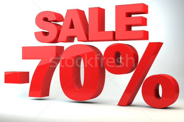 Stock photo: Sale - price reduction of 70%