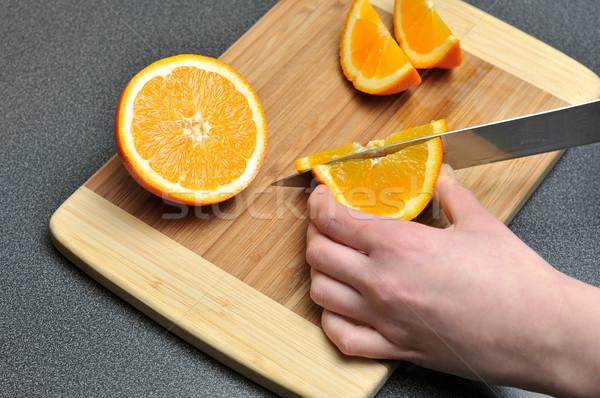 Stok fotoğraf: Turuncu · tablo · gıda · meyve