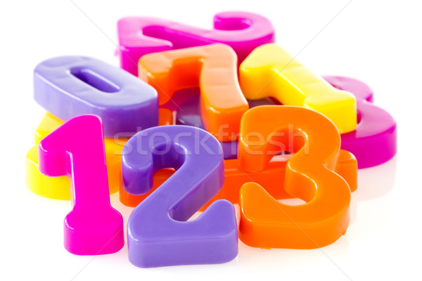 Colorful assorted plastic numbers Stock photo © Grazvydas