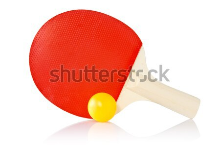 Table-tennis racket and ball Stock photo © Grazvydas
