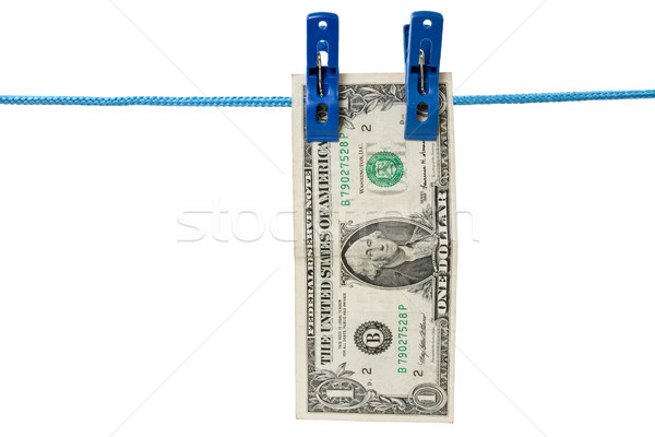one dollar  hung on a washing line Stock photo © Grazvydas