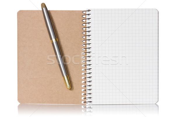 Opened notebook and pen Stock photo © Grazvydas