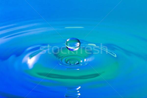 синий воды капелька окружающий аннотация природы Сток-фото © Grazvydas