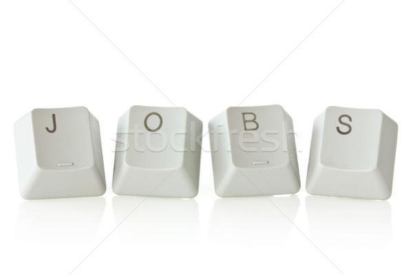 клавиатура ключами правописание белый Сток-фото © Grazvydas