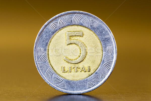 five litas coin Stock photo © Grazvydas