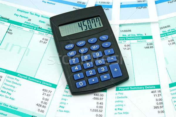 Stipendio nero mutui sintesi dettagli ufficio Foto d'archivio © Grazvydas