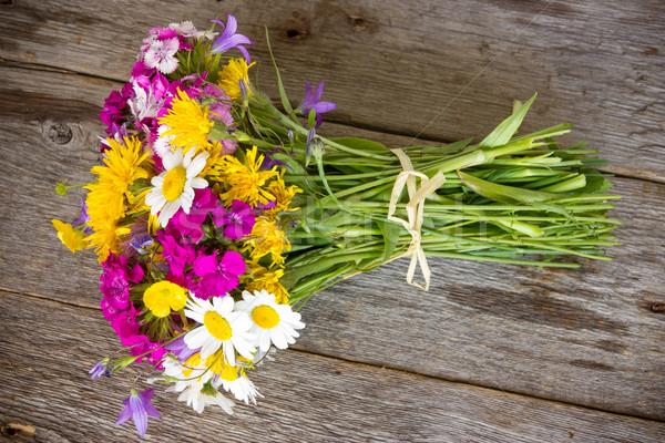 Полевые цветы старые красочный букет весны Сток-фото © Grazvydas