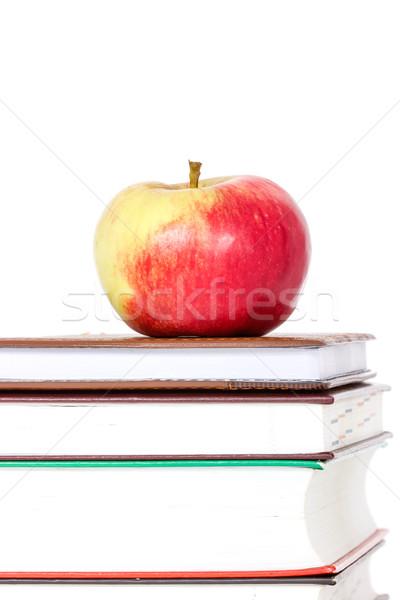 книгах красное яблоко Top белый книга Сток-фото © Grazvydas