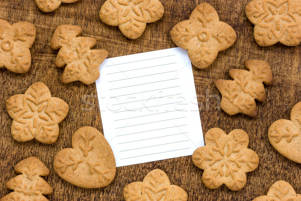 Cookies with a lined paper for text Stock photo © Grazvydas