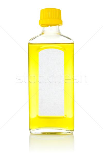 şişe balık yağı beyaz sağlık balık yağ Stok fotoğraf © Grazvydas