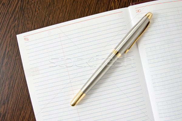 Foto d'archivio: Pen · notebook · inchiostro · tavola · libro · lavoro